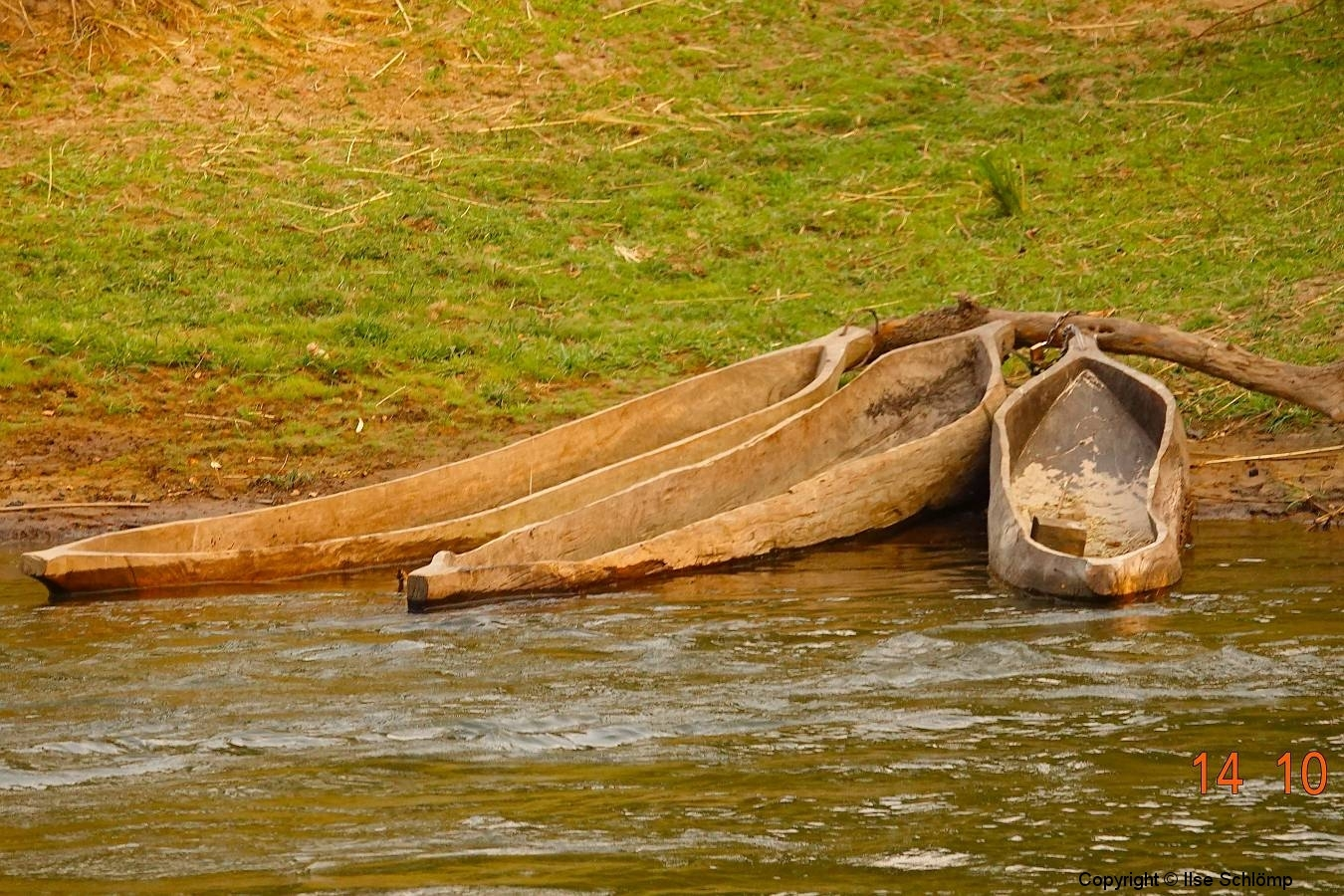 Namibia, Okavango Fluss, Mokoros