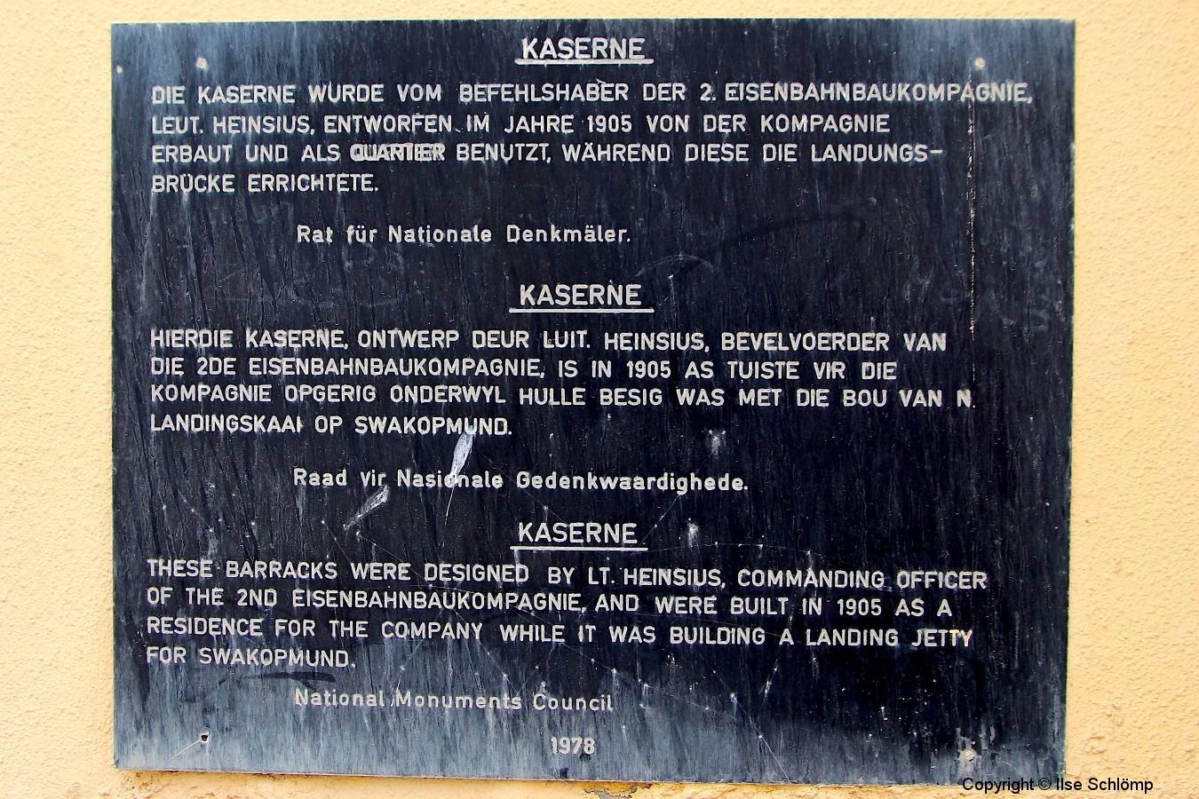 Namibia, Swakopmund, Ehemalige Kaserne