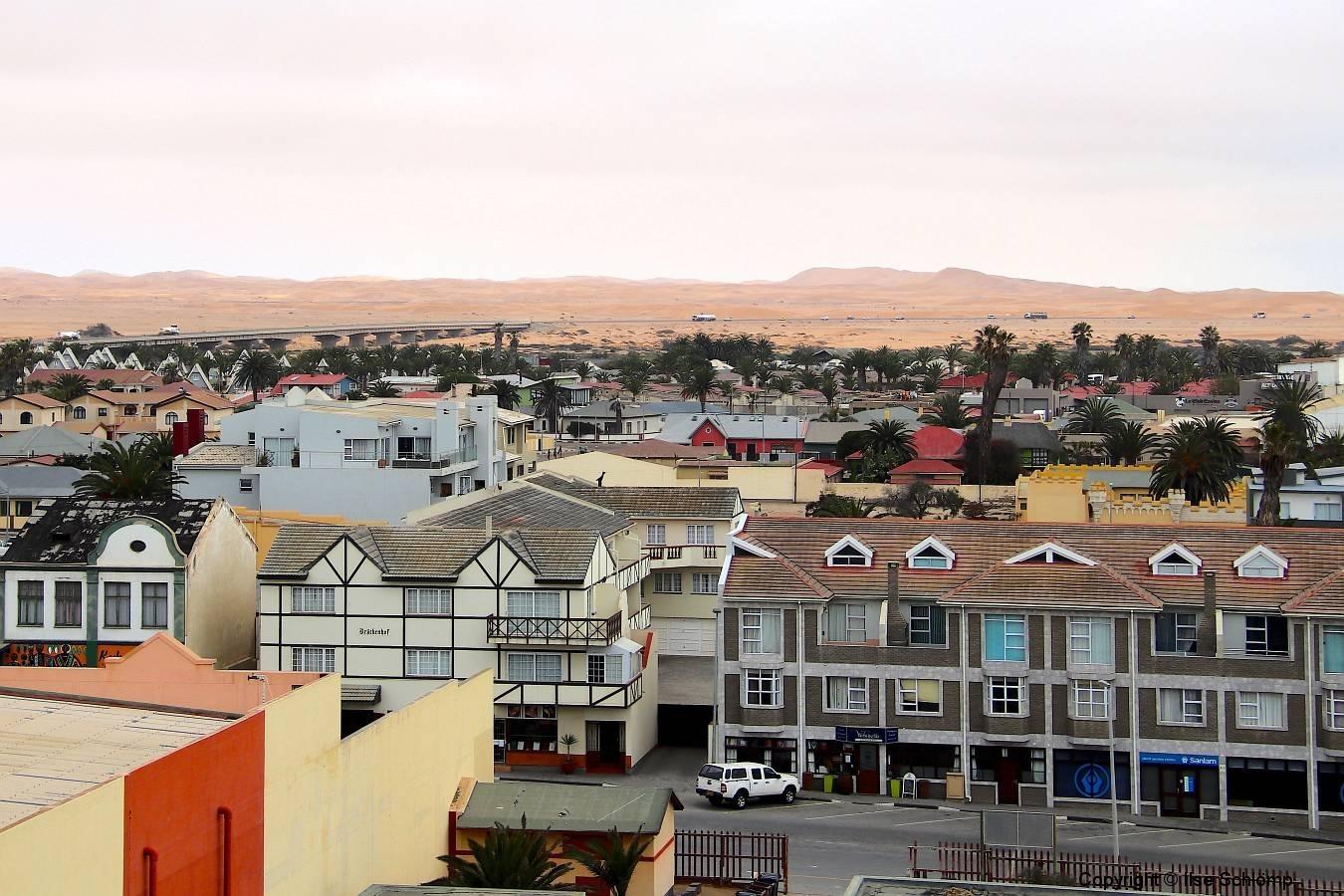 Namibia, Swakopmund, Blick vom Woermannhaus
