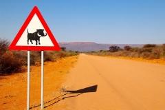 """Namibia, Waterberg Plateau  """"Vorsicht Warzenschweine"""""""