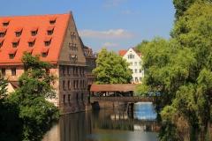 Nürnberg, Henkersteg über der Pegnitz