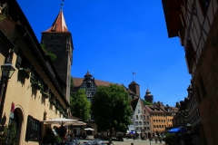 Nürnberg, Blick auf den Tiergärtnertorplatz