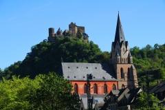 Oberwesel, Gotische Liebfrauenkirche vor der Schönburg