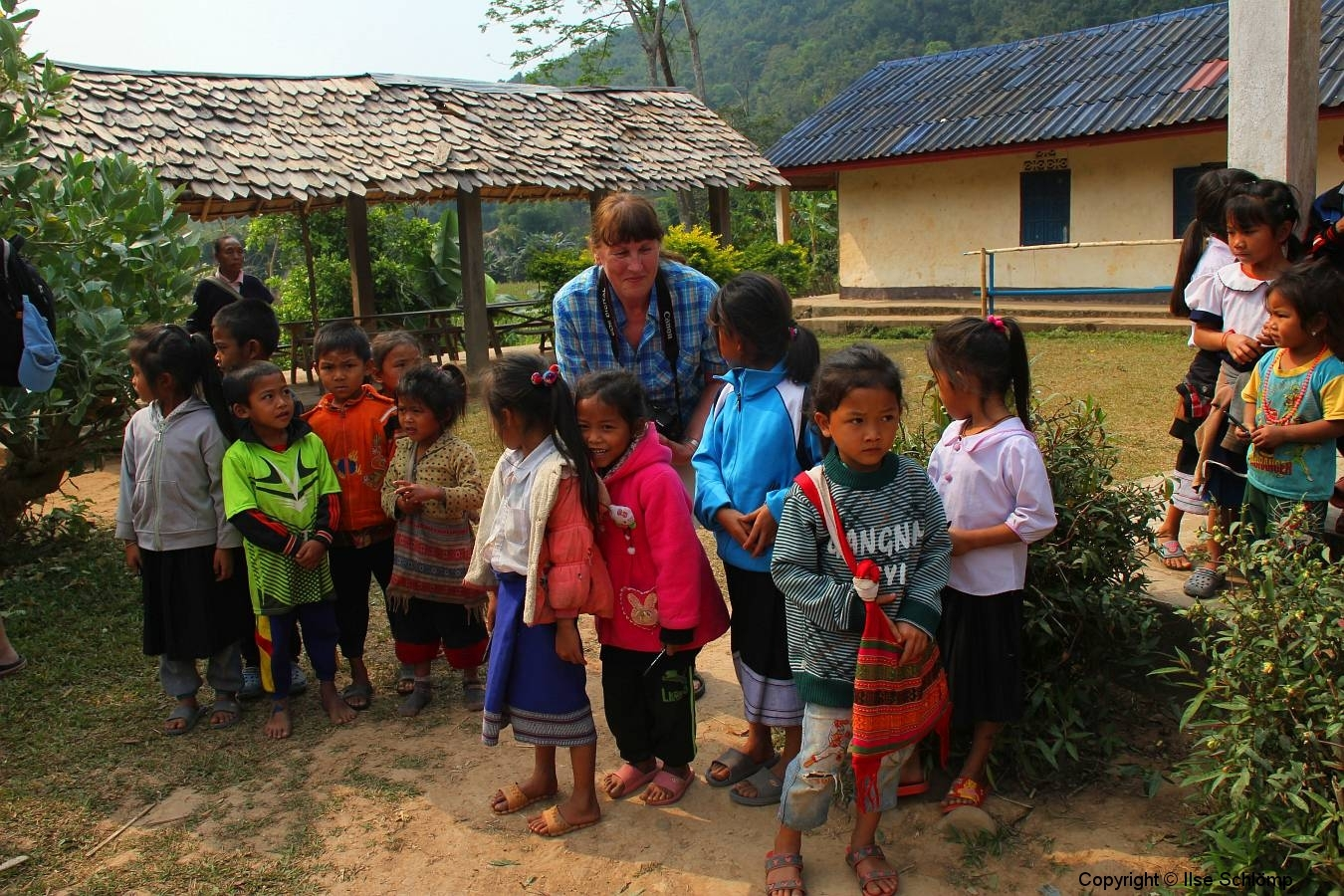 Laos, Oudomxay, Schüler