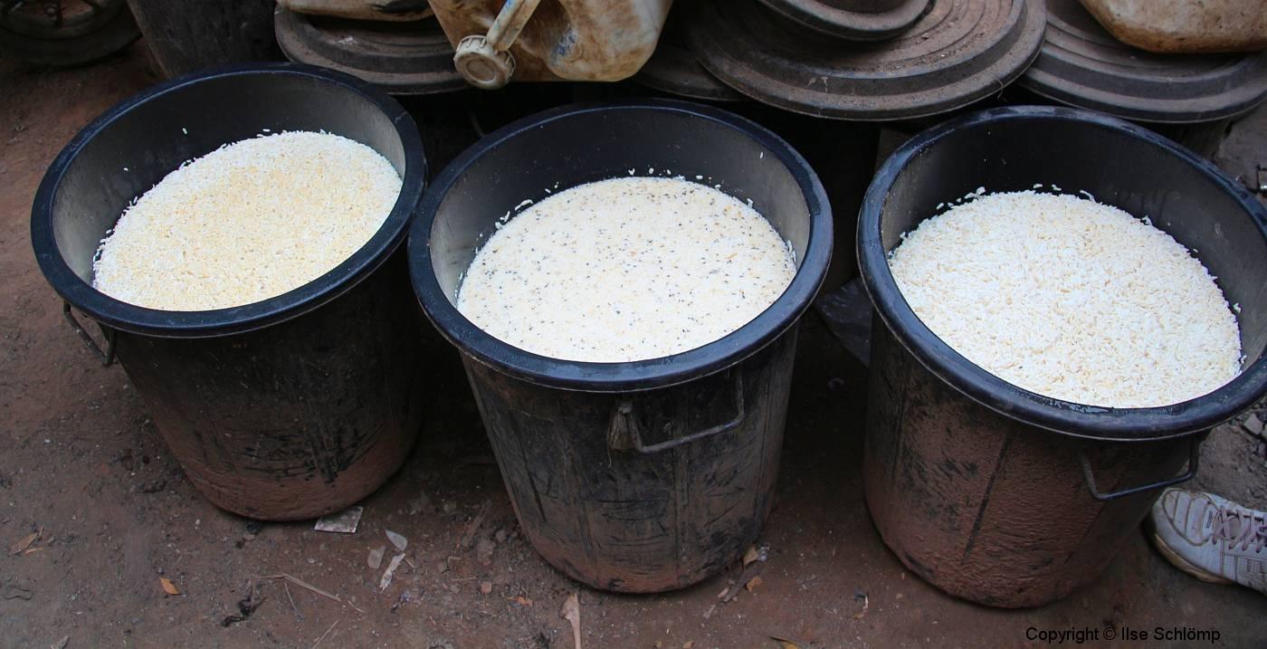 Laos, Oudomxay, Reisweinherstellung Lao-Lao