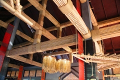 Laos, Oudomxay, NamKat YolaPa Resort, Deckenkonstruktion