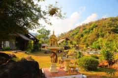 Laos, Oudomxay, NamKat YolaPa Resort, Geisterhäuschen