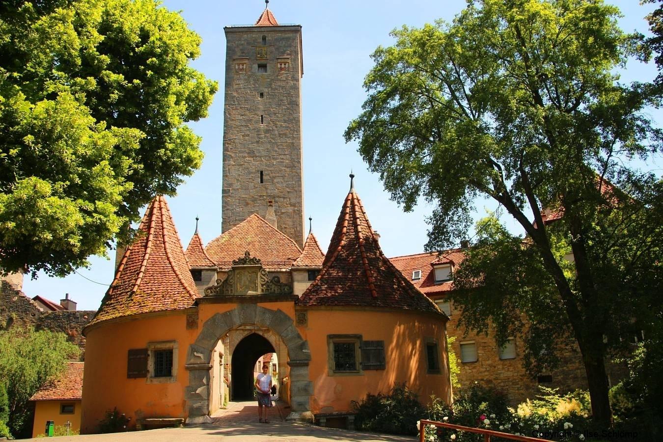 Rothenburg ob der Tauber, Burgtor und Burgturm