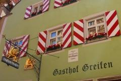 Rothenburg ob der Tauber, Haus zum Goldenen Greifen, Geburts- und Wohnhaus von Heinrich Toppler