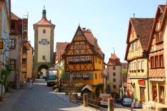 Rothenburg ob der Tauber, Plönlein mit Siebersturm und Kobolzeller Turm