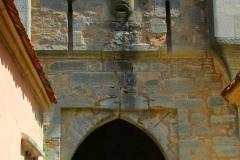 Rothenburg ob der Tauber, Burgtor mit Maske
