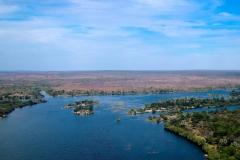 Simbabwe, Victoria Falls, Helikopterflug