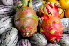 Sumatra, Berastagi, Markt, Drachenfrucht