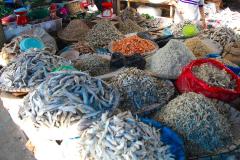 Sumatra, Markt, getrocknete Fische