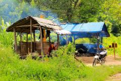 Sumatra, Umgebung Bukittinggi, Rohrzuckerstand