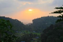 Sumatra, Abendstimmung Umgebung Bukittinggi
