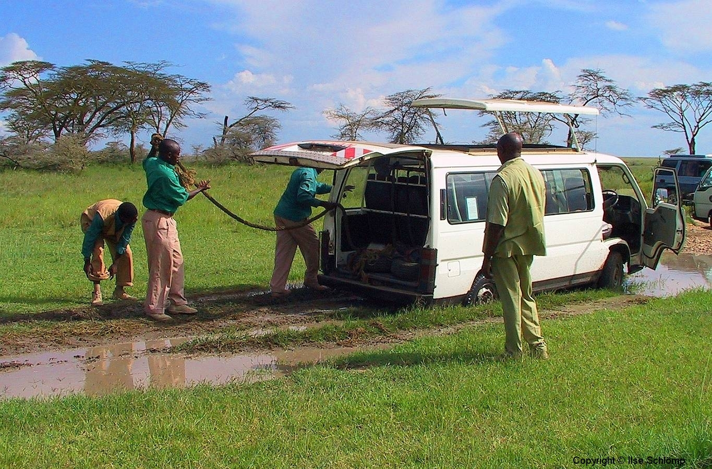 Tansania, Serengeti, Wir stecken fest