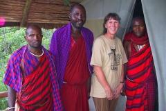 Tansania, Lake Manyara Nationalpark, Massai, Im Camp