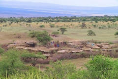Tansania, Serengeti, Savannenhochland, Massaidorf
