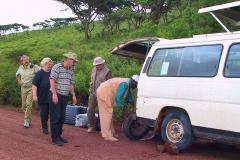 Tansania, Serengeti, Unser zweiter Radwechsel