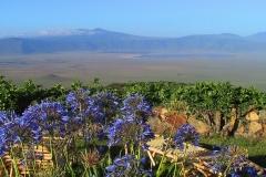 Tansania, Blick von der Sopa Lodge in den Ngorongorokrater