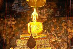 Thailand, Bangkok, Wat Pho, Statue Phra Phuttha Thewapatimakon