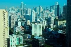 Thailand, Bangkok, Blick aus unserem Hotelfenster auf die Skyline bei Tag