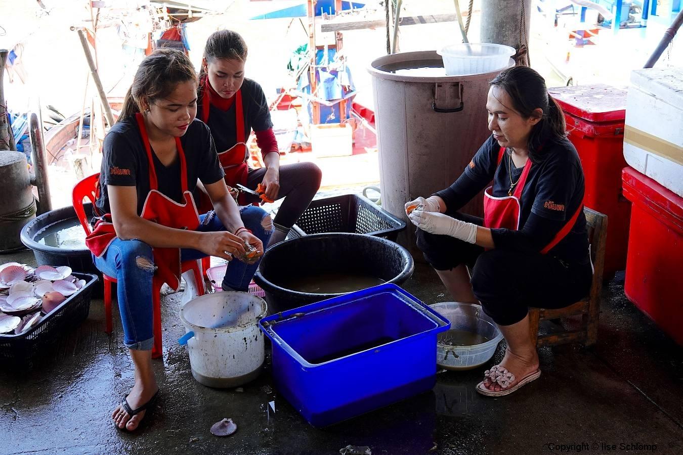 Thailand, Hua Hin, Fischereihafen