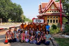 Thailand, Hua Hin, Gruppenfoto vor dem Königlichen Pavillon