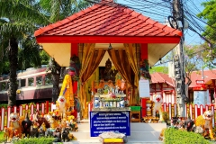 Thailand, Hua Hin, Pavillon am Bahnhof