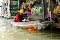 Thailand, Ratchaburi, Schwimmender Markt Damnoen Saduak