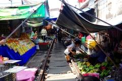 Thailand, Samut Songkhkram, Mae Klong Zugmarkt