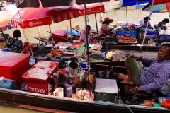 Thailand, Samut Songkhkram, Schwimmender Markt Amphawa