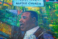 USA, Georgia, Atlanta, Memorial Wandgemälde Martin Luther King