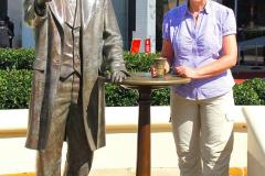 USA, Georgia, Atlanta, World of Coca-Cola, Dr. John S. Pemberton Statue
