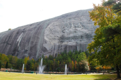 USA, Georgia, Atlanta, Stone Mountain, Der zweitgrößte Monolith, Blick auf das Relief