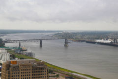 USA, Louisiana, Baton Rouge, Blick auf den Mississippi River