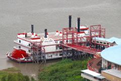 USA, Louisiana, Baton Rouge, Mississippi River Spielcasino