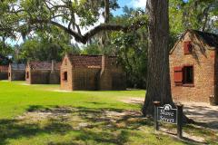 USA, South Carolina, Boone Hall Plantage, Sklavenhäuser