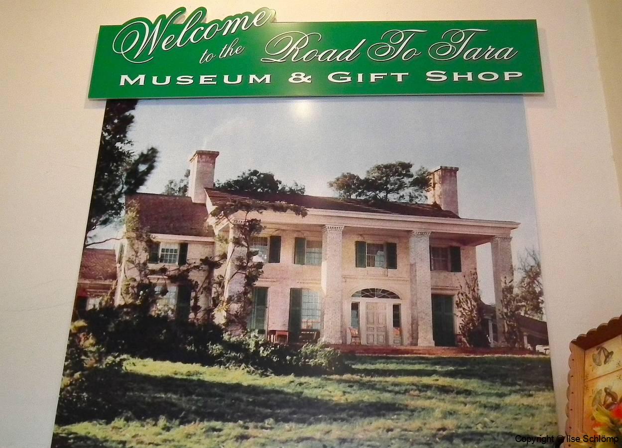 USA, Georgia, Jonesboro, Road to Tara Museum