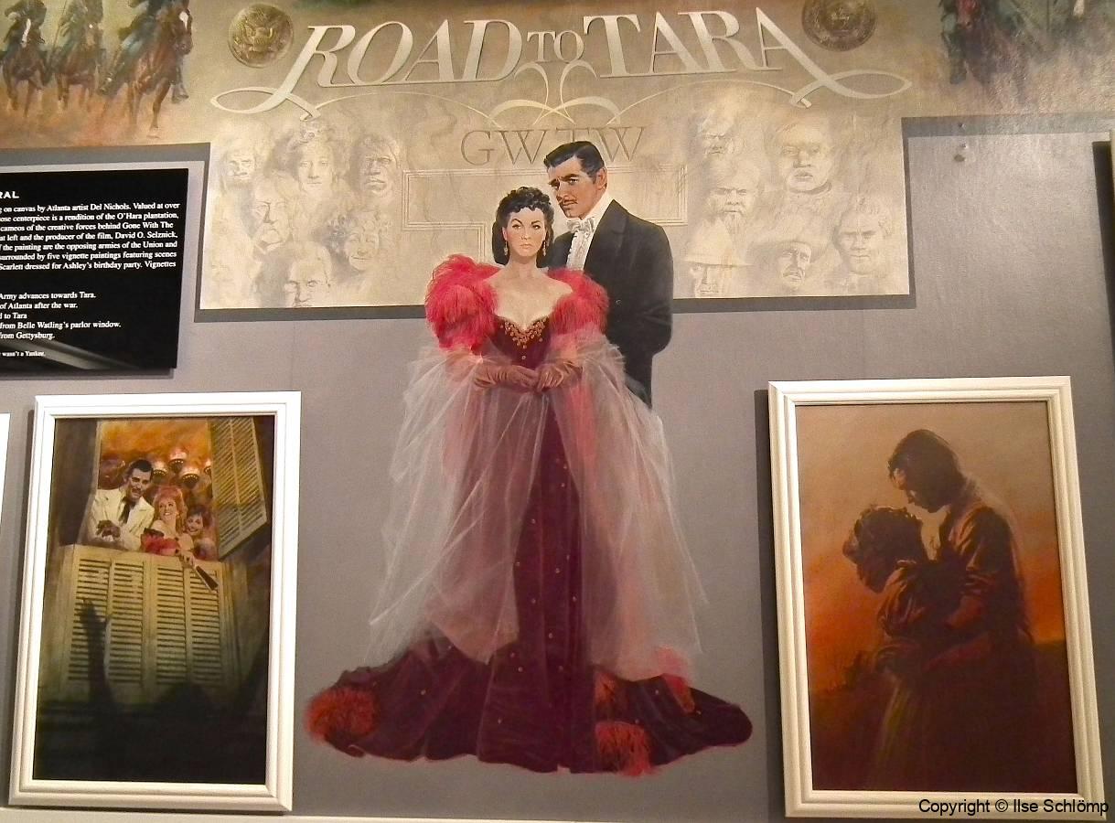 """USA, Georgia, Jonesboro, Road to Tara Museum, Wandgemälde """"Road to Tara"""""""