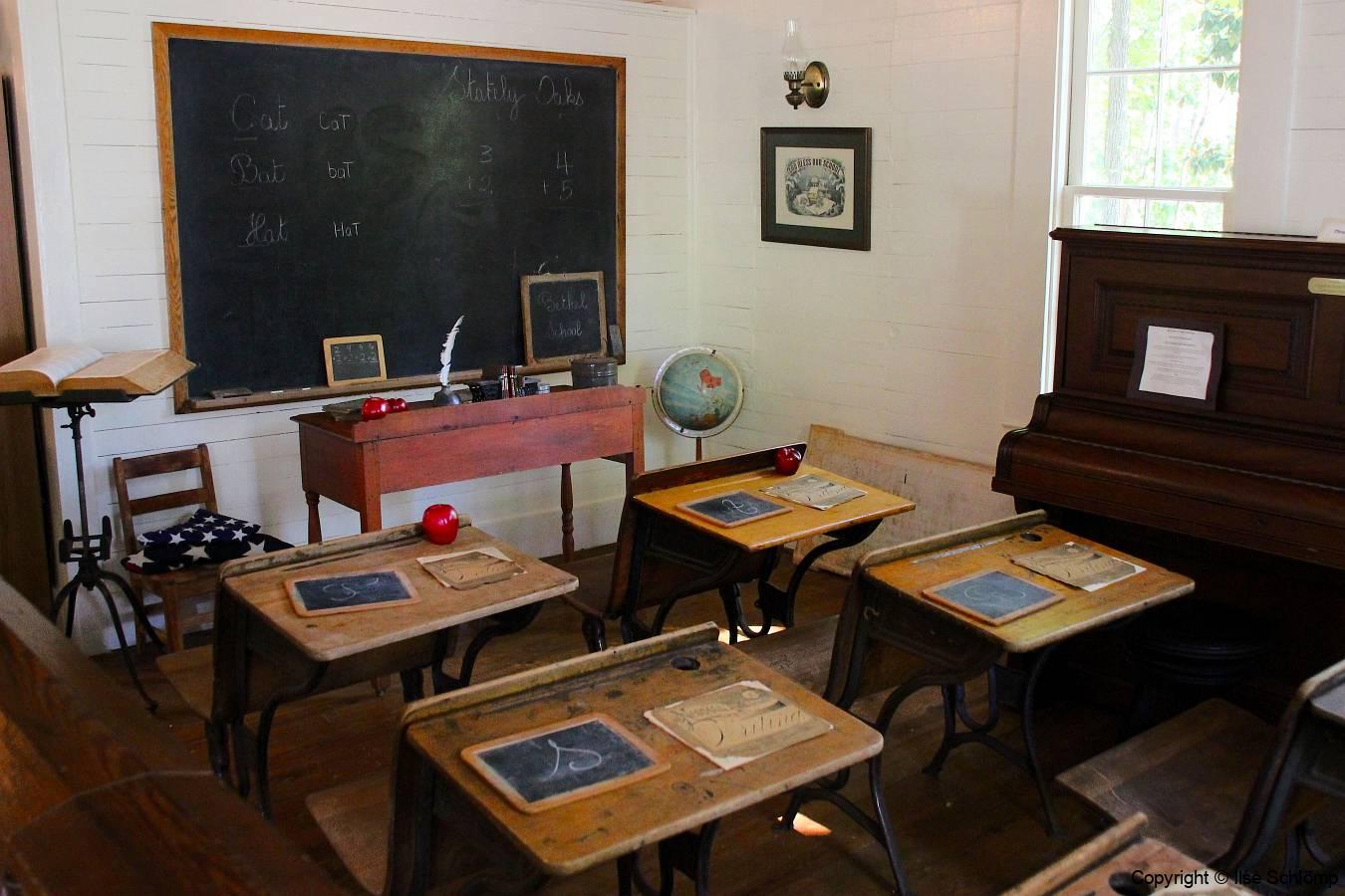 USA, Georgia, Jonesboro, Stately Oaks Antebellum-Haus Tara, Einzimmer-Schulhaus