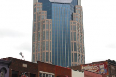 "USA, Tennessee, Nashville, Broadway, AT&T Building ""Batman"""