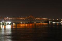 USA, Louisiana, New Orleans, Nachtfahrt auf dem Mississippi River