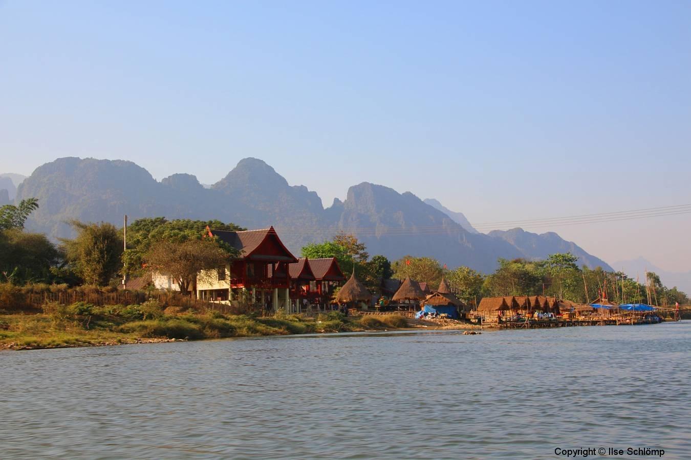 Laos, Vang Vieng, Nang Song Fluss
