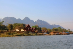 Laos, Vang Vieng, Nang Song Fluss
