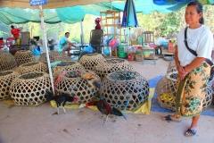 Laos, Vang Vieng, Auf dem Markt