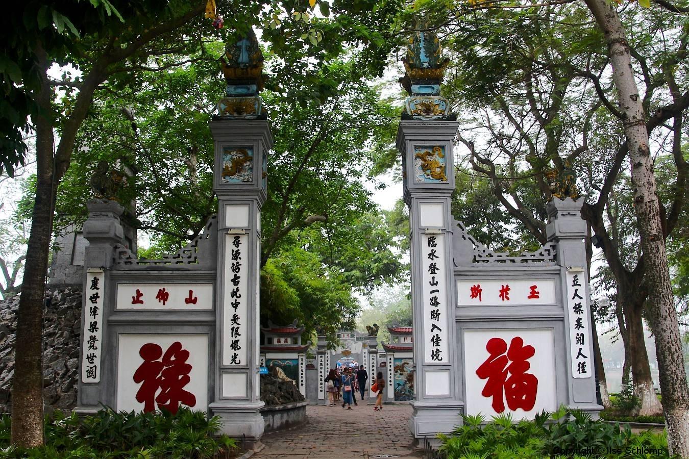 Vietnam, Hanoi, Hoan Kiem See, Eingang zum Jadebergtempel