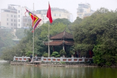 Vietnam, Hanoi, Hoan Kiem See, Jadebergtempel