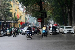 Vietnam, Hanoi, Straßenansicht